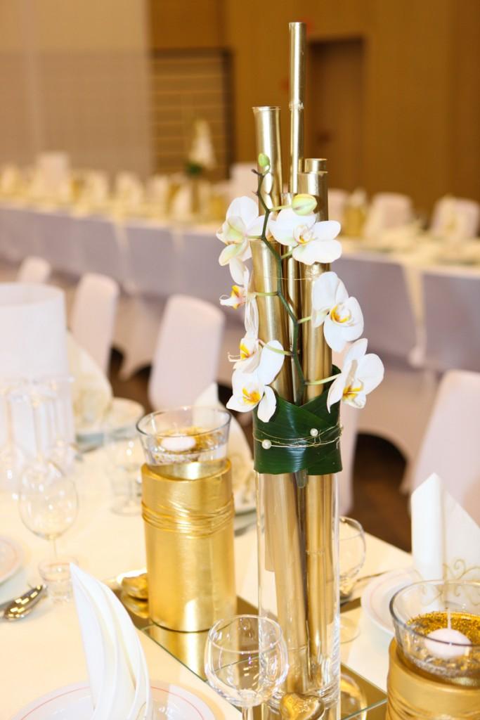Hochzeiten im modernen stil nellys dekowelt - Tischdeko bambus ...