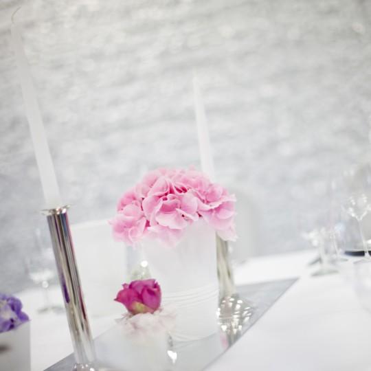 Tischdeko Hortenzien