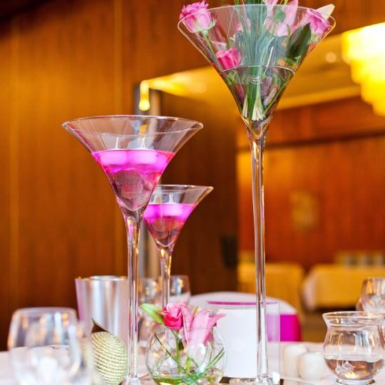 Tischdeko lillien in pink