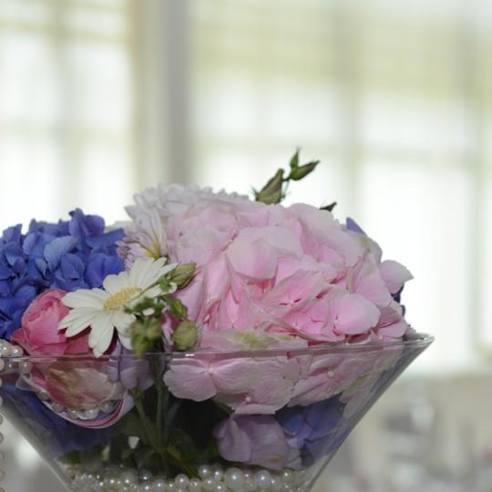 Tischdeko mit Martini Vasen